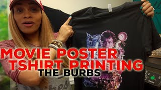 Movie Poster Tshirt Printing: The Burbs! Anajet DTG Apparel Printer