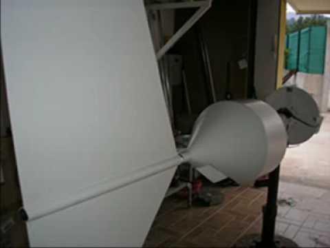 Aerogenerador eolico de 1800w de fabricacion artesana
