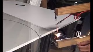 DIY: Home made Cordless Plexiglass/Acrylic panel (PVC & foam) cutter