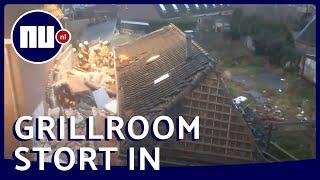 Buurtbewoner filmt ravage na ontploffing Coevorden | NU.nl