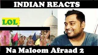 Indian Reacts to Na Maloom Afraad 2 (2017) | Official Trailer | Fahad Mustafa | Urwa Hocane