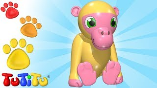 TuTiTu Animals | Animal Toys for Children | Baboon and Friends