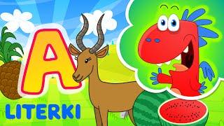 Nauka literek dla dzieci ze Smokiem Edziem - litera A - literki dla dzieci po polsku