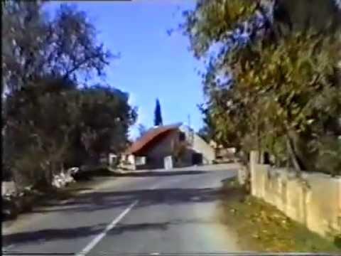 Oklaj u studenom 1995 godine cesta od Promone do Joke