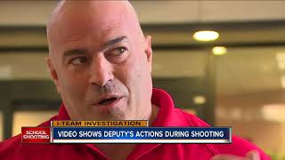 WATCH: Surveillance video shows deputy outside during Florida school shooting