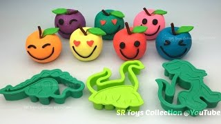 Play and Learn Colours with Sparkle Play Dough Apples Smiley Face Fun for Kids