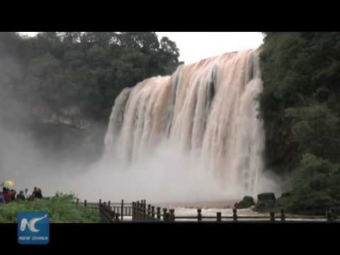 Asia's largest waterfall sees biggest flow in 10 years