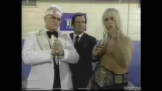 NWA WCW Wrestling Buddy Landell post match Starrcade interview 11/30/85