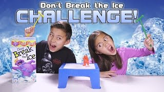DON'T BREAK THE ICE CHALLENGE! Kids Game Night with REAL ICE!