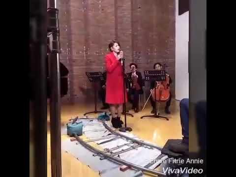 Proses shooting video clip sang penggoda Tata Janeta dan maia estianty
