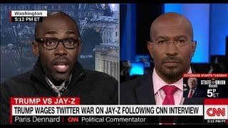 Paris Dennard And Van Jones Heated Debate Over Jay Z and Trump Feud || CNN