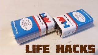3 Life Hacks With 9v Battery ( Useful Things )