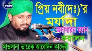প্রিয় নবী (দঃ) এর মর্যাদা | মাওলানা তারেক আবেদিন | Mawlana Tareq Abedin | Bangla  Waz 2018