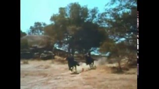 1952 Rose of Cimarron ending scene at Corregidor rock at Burro Flats
