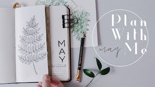 Plan With Me | May 2019 Bullet Journal Ferns