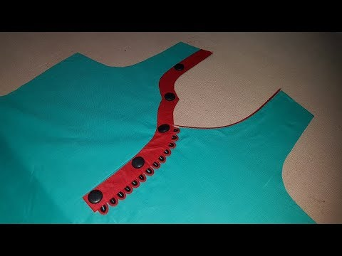 Latest Front Neck Designs with One Side Patterns