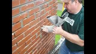 Repair of chimney mortar joints.