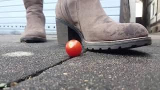 Crush Tomato [Slow Motion] !