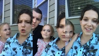 Millie Bobby Brown | Instagram Live Stream | 12 July 2017 w/ Charlie & Ava Brown