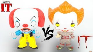 UNBOXING - IT Pennywise The CLOWN Funko POP! [1990 VS. 2017] Review & Comparison | You'll Float Too!