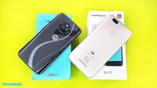 हिन्दी Moto X4 Vs Xiaomi Mi A1 SpeedTest Comparison | Shocking Results !!