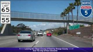 I-5 North (CA), Orange County South & Central, Exit 72 - Exit 103B