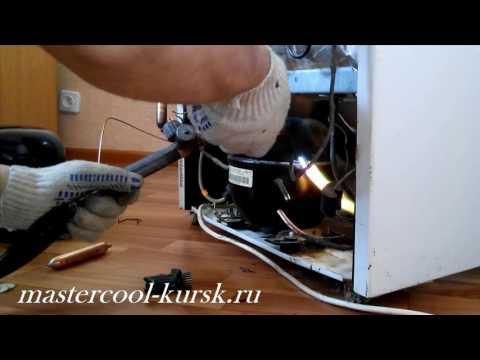 Атлант замена компрессора и устранение утечки в запененной части