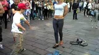 Drunk woman dancing
