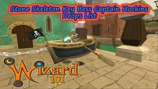 Wizard101 2017 Test Realm Captain Hockins Stone Key Boss Drops List