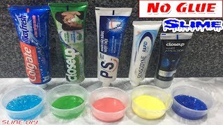 Diy toothpaste fluffy slime no shaving cream no glue no borax testing 5 ways to make slime from toothpaste and salt no glue no borax no fail ccuart Image collections