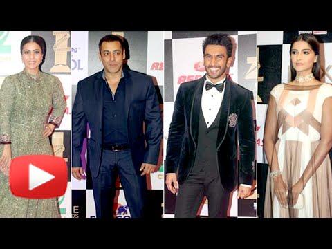 Salman Khan, Kajol, Sonam Kapoor, Ranveer Singh At Zee Cine Awards 2016 Red Carpet