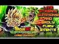 LIVE BROLY FURY EVENT AND 20K CRYSTAL SUMMONS! DRAGON BALL LEGENDS