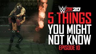 WWE 2K20: 5 Things You Might Not Know #10 (Flaming Tables Glitch, OMG Finishers & More)