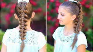 Stacked Pull-Thru Braid | Cute Girls Hairstyles