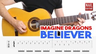 Believer ★ Imagine Dragons ★ Guitar Lesson - Easy How To Play Acoustic Songs - Chords Tutorial