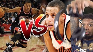 2 GOATS.. DERRICK ROSE vs ROOKIE STEPHEN CURRY!