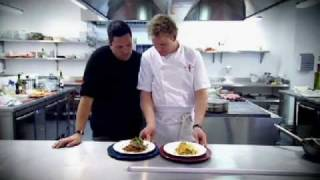 Ramsay throws Dom Joly's phone in boiling water - Gordon Ramsay