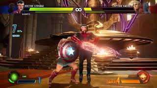 MARVEL VS. CAPCOM: INFINITE Doctor Strange & Hawkeye vs Captain America & Iron Man