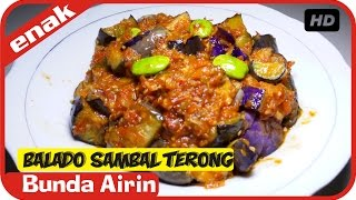 Sambal Terong Balado - Resep Masakan Simple Mudah Sederhana Bumbu Indonesia - Bunda Airin