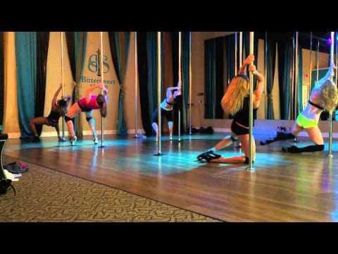 Paint It Black - Ciara Beginner Pole Dance Routine 11-23-15