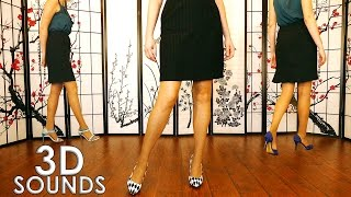 Binaural ASMR Tapping Sounds of Walking In Heels – No Talking For Relaxation & Sleep