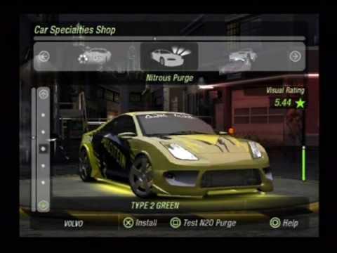 Need For Speed Underground 2 Tuning Toyota Celica