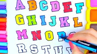 Learning the Alphabet with Colors, Coloring Pages with ABC Song
