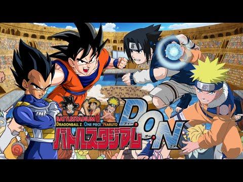 Goku VS Vegeta VS Naruto VS Sasuke   Battle Stadium D.O.N (#HYPE4JSTARS+)