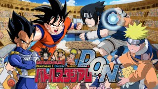 Goku VS Vegeta VS Naruto VS Sasuke | Battle Stadium D.O.N (#HYPE4JSTARS+)