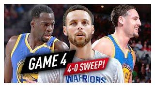 Stephen Curry, Klay Thompson & Draymond Green Game 4 Highlights vs Blazers 2017 Playoffs - SWEEP!