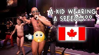 OMG! A KID WEARING SPEEDOS AT MY SHOW IN CALGARY! | Vlog #61