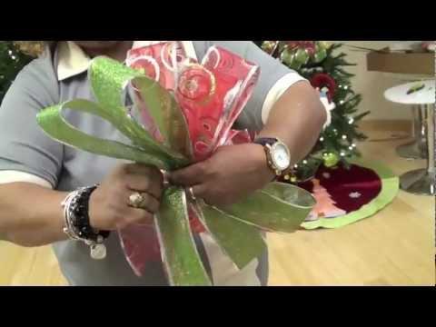 Taller de Decoración en Casa Febus Cómo hacer un lazo o moño de Navidad