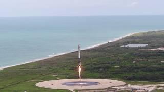 CRS-11 | Landing aerial footage