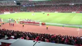 Minute of silence at Battle of the Reds